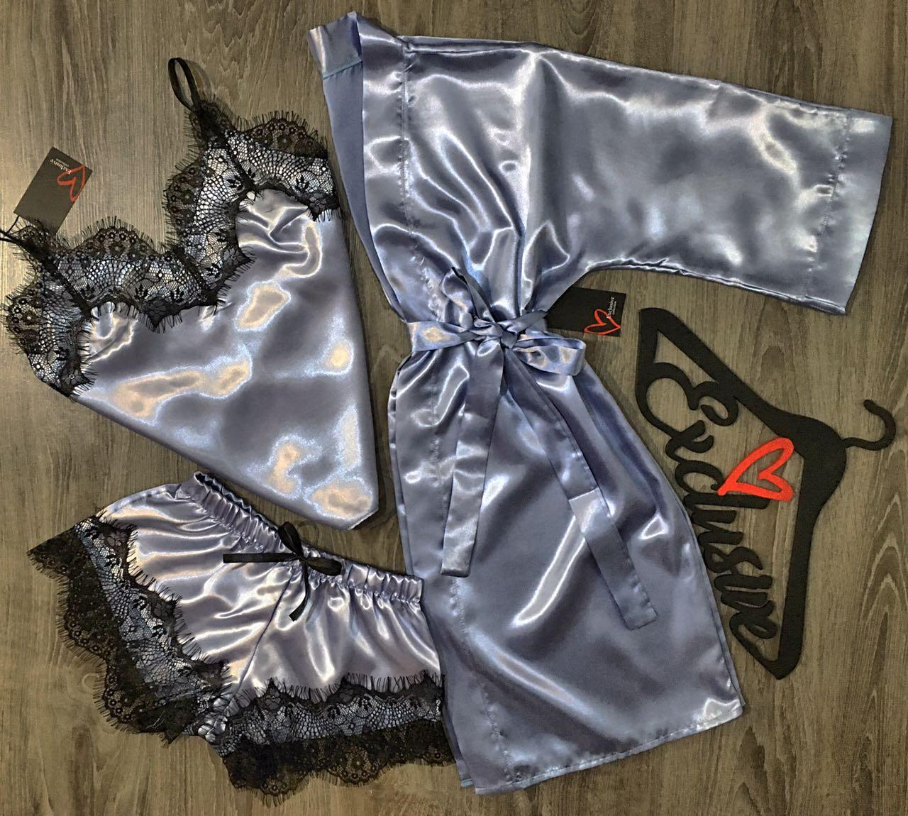 Комплект домашней одежды халат+пижама.
