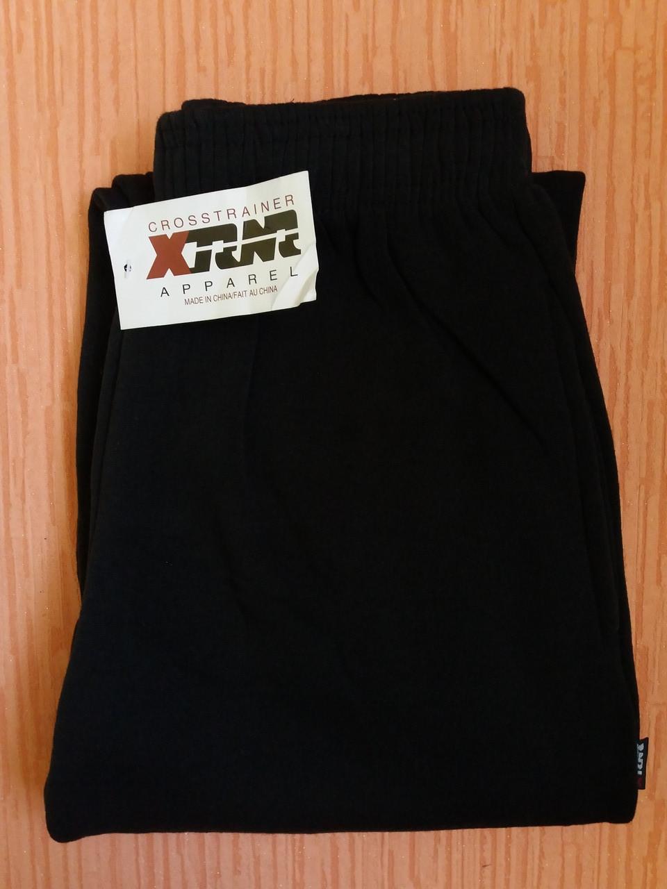 Спортивные штаны теплые унисекс р.44-46 черные на манжете. От 4шт по 72грн