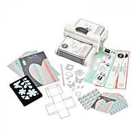 Стартовый набор для тиснения и вырезания Sizzix Big Shot Plus Starter Kit (White & Gray) 661546