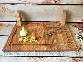 Плато из дерева для подачи шашлыка 30х20 см