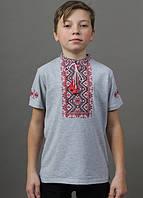 Стильная вышитая детская футболка