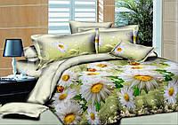 Двоспальне постільна білизна Gold - ромашки