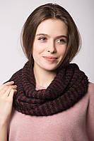 Мягкий трикотажный шарф-снуд LANE в полоску