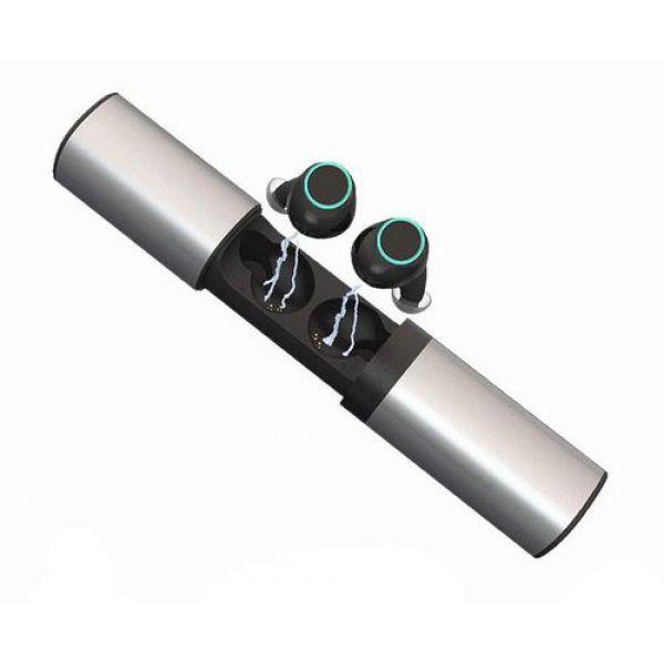Беспроводные наушники Wi-pods S2 гарнитура Power Bank 1200mah Silver