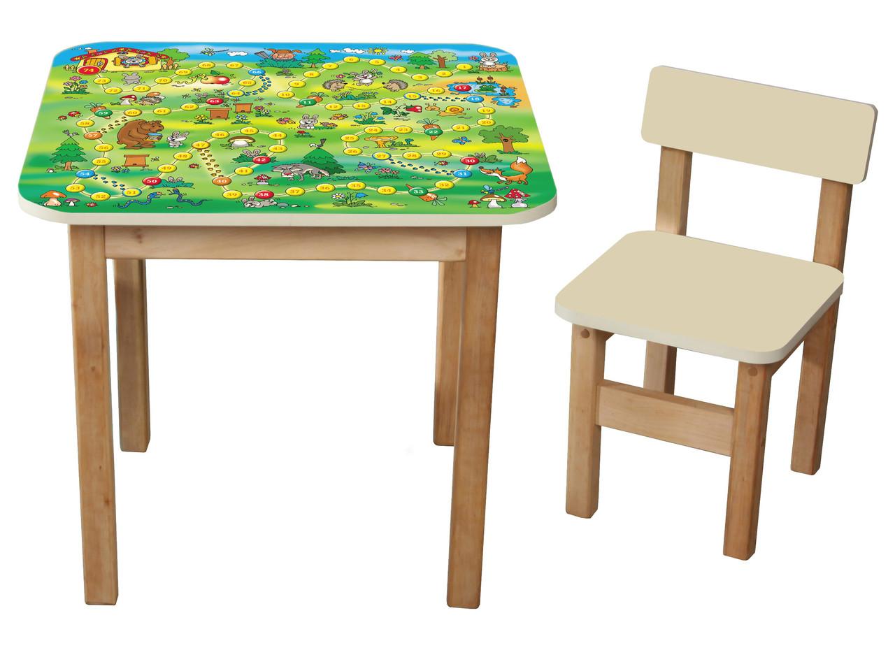 Детский столик + 1 стульчик Файна гра