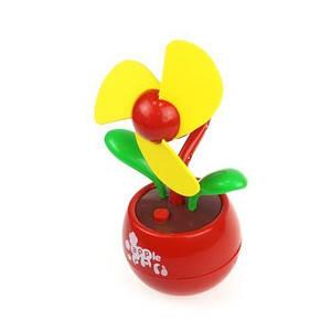 Настольный USB-вентилятор Цветок, красный