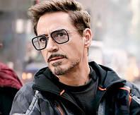 Мужские солнцезащитные очки квадратные 49313 серые