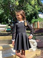 Школьное платье для девочки №671 (р.122-140) черное, фото 1