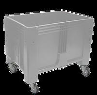 Цельнолитой неразборный контейнер KSK 1280-80 с колесами