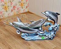 Стол журнальный Три дельфина