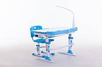 Комплект парта+стілець М 9047 + НАСТІЛЬНА ЛАМПА + підставка для книжок в подарунок, фото 1