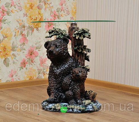 Стол журнальный Медведь с медвежонком, фото 2