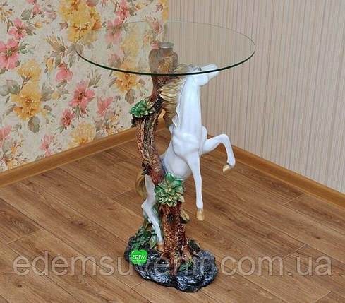 Стол журнальный Конь столешница 55 см, фото 2
