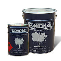 Полиуретановая белая эмаль для дерева МДФ ОPV205BTG20+C336I KEMICHAL (Италия) шелковисто-матовая (25кг+12.5л)