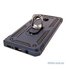 Ударопрочный чехол Serge Ring под магнитный держатель Samsung A20/A30 Deep Blue, фото 3