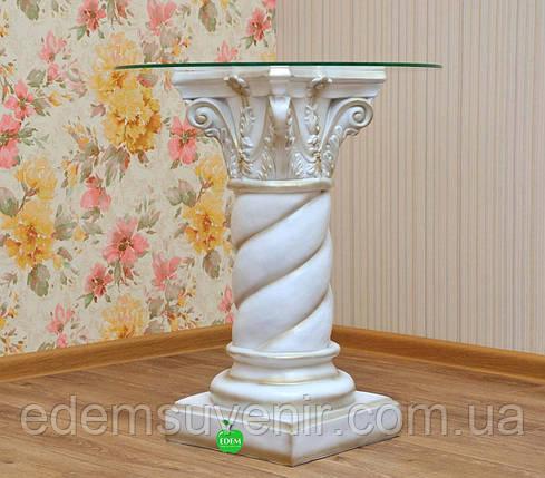 Стол журнальный Колонна витая, фото 2