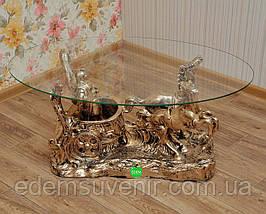Стол журнальный Колесница, фото 2