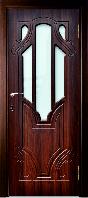 Ламинированная дверь Кардинал стекло По фенкс