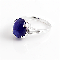 Сапфир синий, серебро 925, кольцо, 875КС
