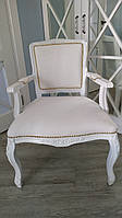 Реставрация и перетяжка кресла. Реставрация мебели Днепр. Перетяжка мебели Днепр.