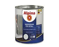 Грунт алкидный ALPINA GRUNDIERING FUR METALL антикоррозионный (серый) 0,75 л