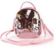 Детская сумочка в пайетках art. 8-1830 Розовый