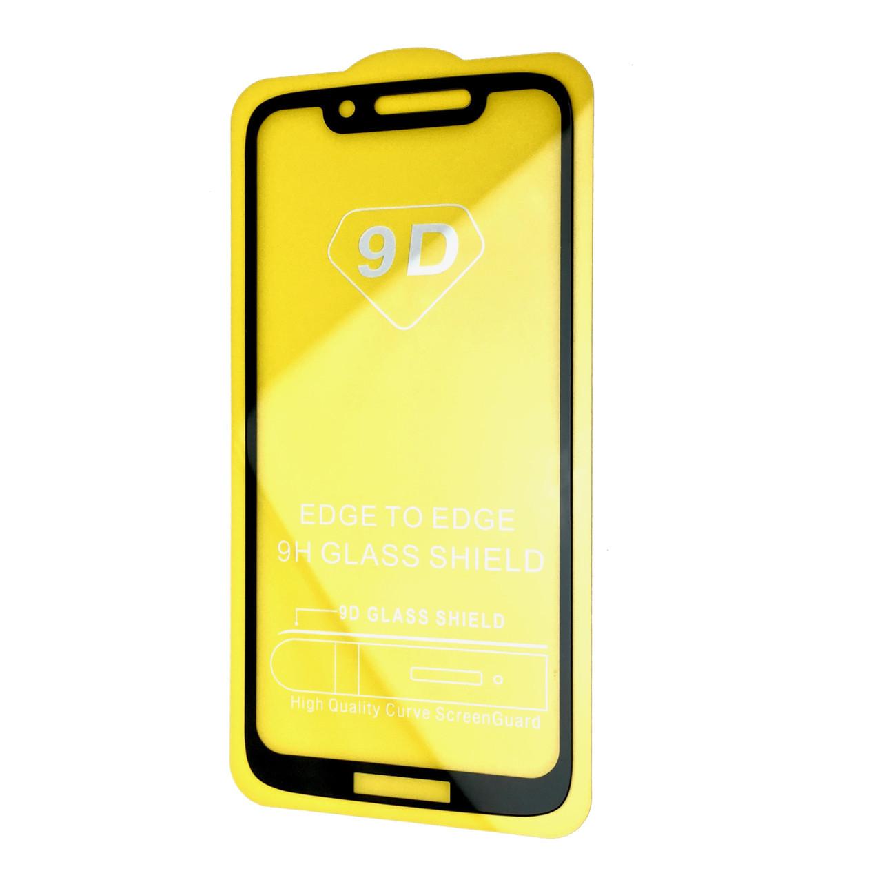 Защитное стекло Full Glue 9D Motorola Moto G7 Play (black)