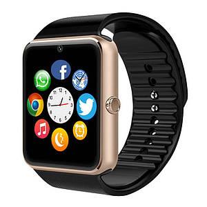 Умные часы GT08, черный с золотом