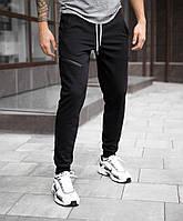 """Молодежные мужские хлопковые штаны """"Арнольд"""" внизу на резинке черные - размеры S, XL, фото 1"""