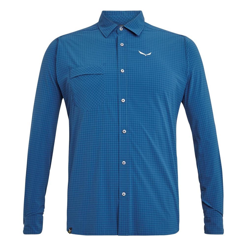 Рубашка Salewa Puez Minicheck Dry L/S Mens Shirt