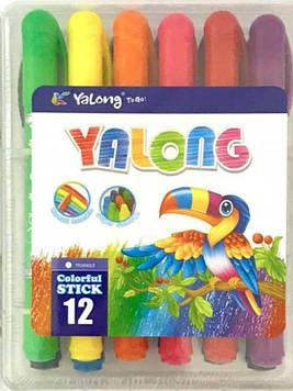 Мелки восковые (масляные) 12цв 95076-12 Yalong