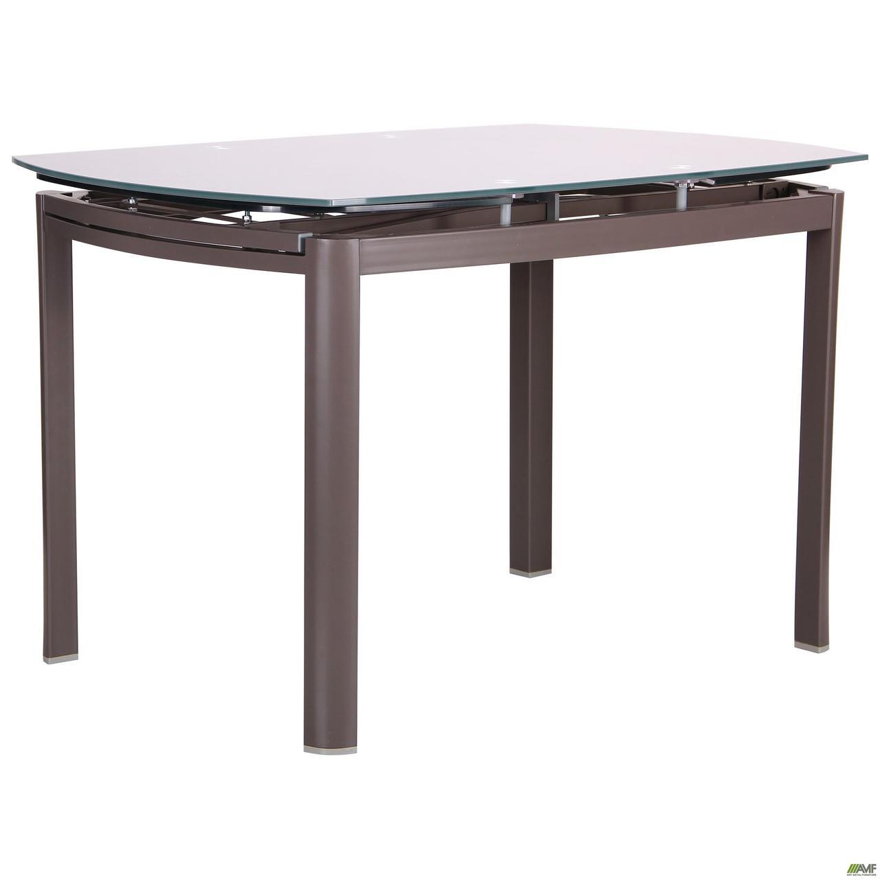 Стол обеденный раскладной Кассандра B179-71 серый/стекло платина