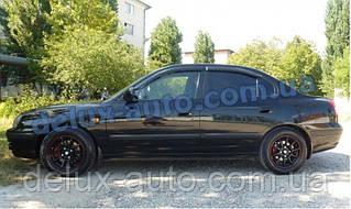 Ветровики Cobra Tuning на авто Hyundai Elantra III Sd 2000-2006 Дефлекторы окон Кобра для Хюндай Елантра 3