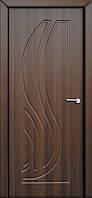 Межкомнатные двери Неман модель Сабрина ПГ орех шоколадный