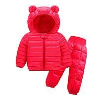 Комплект демисезонный (куртка + штаны) детский, Ушки, красный Berni