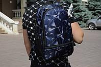 Рюкзак городской модный качественный Brew с принтом, цвет темно-синий, фото 1