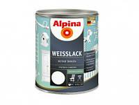 Эмаль алкидная Alpina Weisslack универсальная (полуматовая) 0,75 л