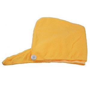 Полотенце-тюрбан для волос, желтый