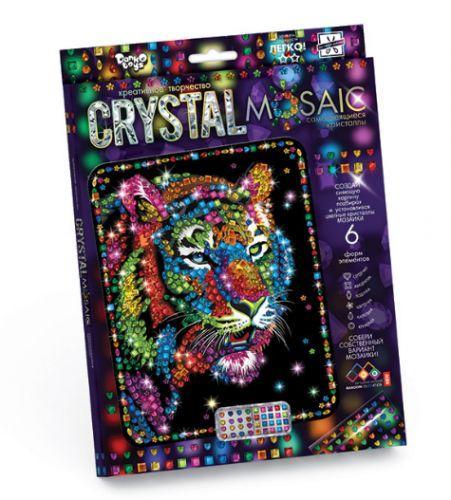 """Картина из кристаллов / Мозаика из разноцветных кристаллов """"CRYSTAL MOSAIC"""", """"Тигр""""  sco"""