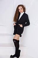 Школьный костюм пиджак+шорты №437 (р.134-152) черный, фото 1