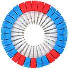 Фреза для Маникюра 10 на 2,5 мм Алмазная Капля Пламя Синяя Полоса, Насадки для Аппаратного Маникюра, Ногти, фото 6