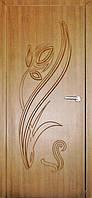 Межкомнатные двери Неман модель Тюльпан ПГ дуб золотой