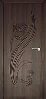 Межкомнатные двери Неман модель Тюльпан ПГ орех шоколадный