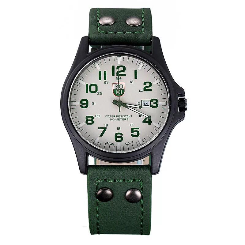 Чоловічі наручні годинники SOKI зелені
