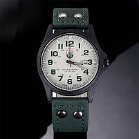 Чоловічі наручні годинники SOKI зелені, фото 2