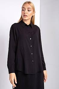 Офисная рубашка RISA с длинным рукавом черного цвета
