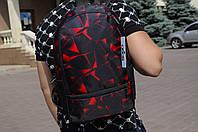 Рюкзак городской модный качественный Brew с принтом, цвет черно-красный, фото 1