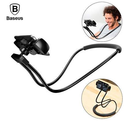 Держатель для телефона/планшета Baseus Necklace Lazy Bracket SUJG-LR01 (Черный), фото 2