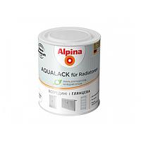 Эмаль акриловая ALPINA AQUALACK FUR RADIATOR для радиаторов отопления (белая) 0,75 л