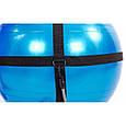 Мяч для фитнеса глянцевый с эспандерами и ремнем для крепления 65см, фото 8